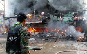 Picture desk live: Car bomb in Sungai Kolok, southern Thailand