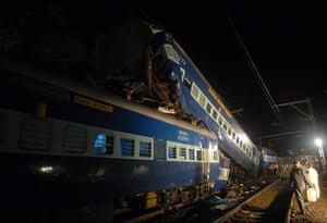 Picture desk live: Train accident in India