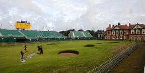 Picture desk live: A wet Royal Lytham & St. Annes Golf Club