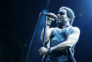 Week in music: Lenny Kravitz performs at Rock In Roma, Italy, 17 July