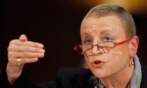 HSBC Bank USA President Irene Dorner testifies before the Senate Homeland Security Committee