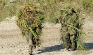 Camouflage soldiers
