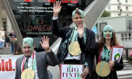 Olympic 'custard' protest