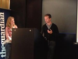 Liane Katz and Chris Mulholland demonstrate Guardian Time Saver