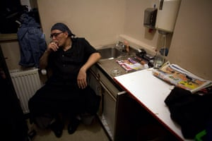 From the agencies: Jose Manuel Abel smokes a cigarette during a break
