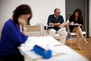 From the agencies: Jose Manuel Abel sits next to German language class in Chipiona