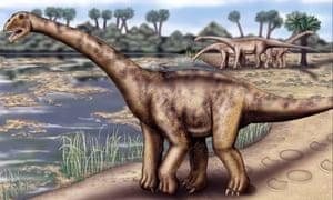 Artist's impression of a sauropod dinosaur