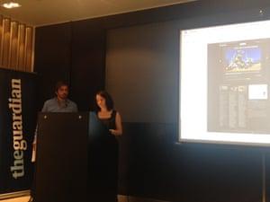 Tara Herman and Chris Fenn demonstrate a new way of showcasing multi-media