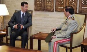 Bashar al-Assad meets General Fahad Jassim al-Freij