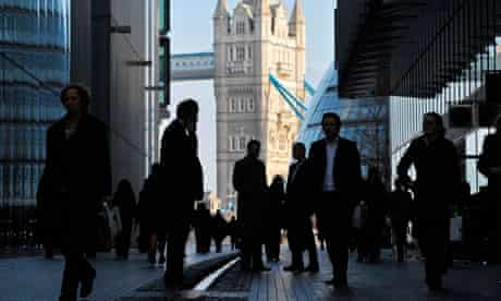 Office workers in central London