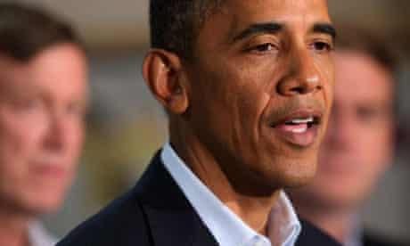 Barack Obama speaks at the University of Colorado hospital in Aurora