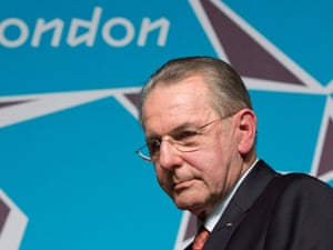 Jacques Rogge at the Olympic Park in Stratford on 21 July 2012. Photograph: Neil Hall/Reuters