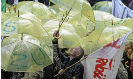 Polish protesters march in solidarity with unions