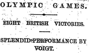Guardian article on Emil Voigt winning at Olympics 1908