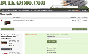 Buying 18 crates of ammo from Bulkammo.com