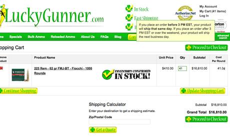 Luckygunner.com 41,000 rounds