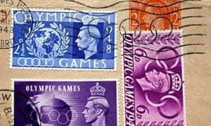 1948 London Olympic stamps
