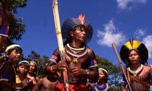 A ritual dance in Brazil