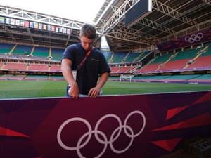 The Millennium Stadium in Cardiff on 24 July 2012. Photograph: Luca Bruno/AP