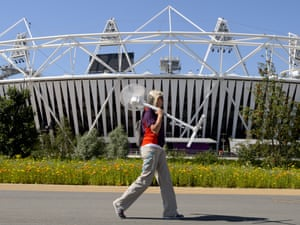 The Olympic Stadium in London on 24 July 2012. Photograph: Rex Features