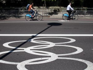The Olympic Route Network in London. Photograph: Mike Kemp/In Pictures/Corbis