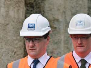 Chancellor of the Exchequer George Osborne (left) with Chief Secretary to the Treasury Danny Alexander.