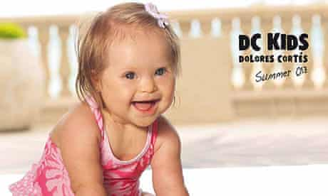 Valentina Guerrero, Down Syndrome baby modeling for Dolores Cortes