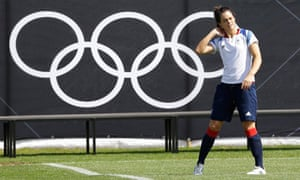 Claire Rafferty of Team GB's women's football squad training in Cardiff on 22 July 2012.