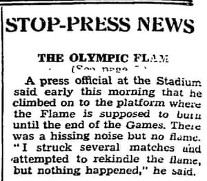 Olympic flame goes out in 1948