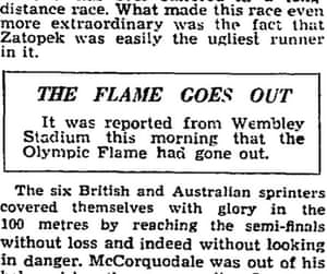 Flame goes out at 1948 Olympics