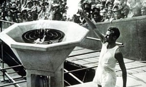 1948 Olympics flame is lit