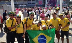 Brazil fans at Cardiff's Millennium Stadium on 25 July 2012.