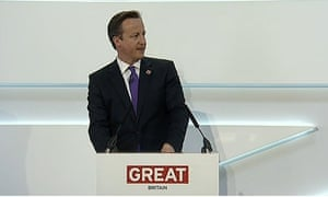 David Cameron at the Global Investment Conference