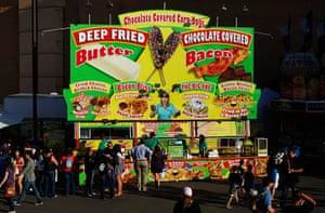 A food stand at the San Diego County Fair in Del Mar