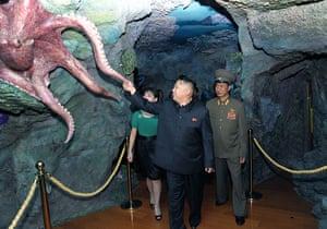 Kim Jong-Un and wife: Kim Jong Un and wife Ri Sol Ju tour an amusement park, Pyongyang