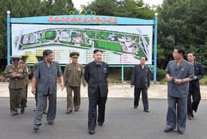 Kim Jong-un and wife: Kim Jong-Un visits the Rungna People's Pleasure Ground