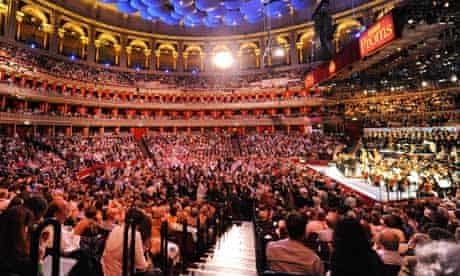 The BBC Symphony Orchestra on stage at the opening night of the Proms