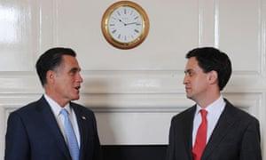 Ed Miliband and Mitt Romney