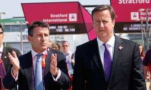 David Cameron and Lord Coe