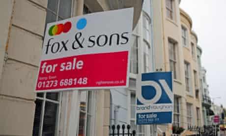 For Sale sign boards in Brighton UK