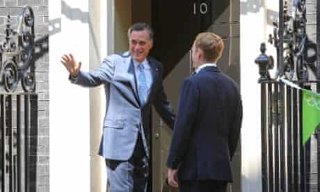 Mitt Romney at No 10 on 26 July 2012. Photograph: Paul Cunningham/Corbis