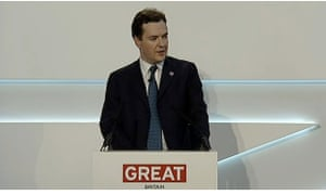 George Osborne talking at the Global Investment Conference