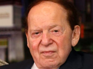 FILE - In this April 12, 2012 file photo, Las Vegas Sands Chairman and CEO Sheldon Adelson speaks at a news conference for the Sands Cotai Central in Macau. (AP Photo/Kin Cheung, File)
