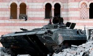 Syrian tank in Azaz