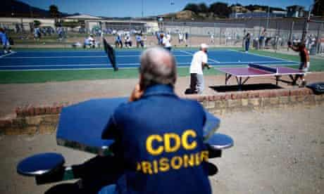 Prisoners at San Quentin state prison California