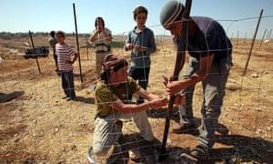 Israeli settlers, Susya, West Bank 24/7/12