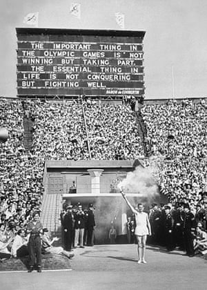 Opening ceremonies: Torch bearer at 1948 Olympics