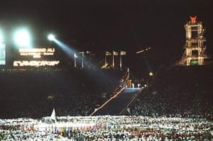 Opening ceremonies: General view of the Oympic Stadium Atlanta 1996