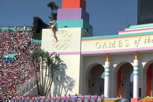 Opening ceremonies: Jetpack man at the LA Olympics 1984