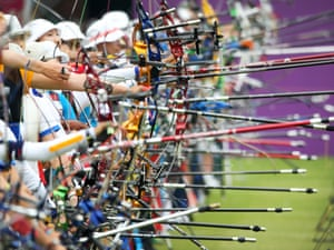 Shoulder to shoulder at the women's archery ranking round at Lord's Cricket Ground